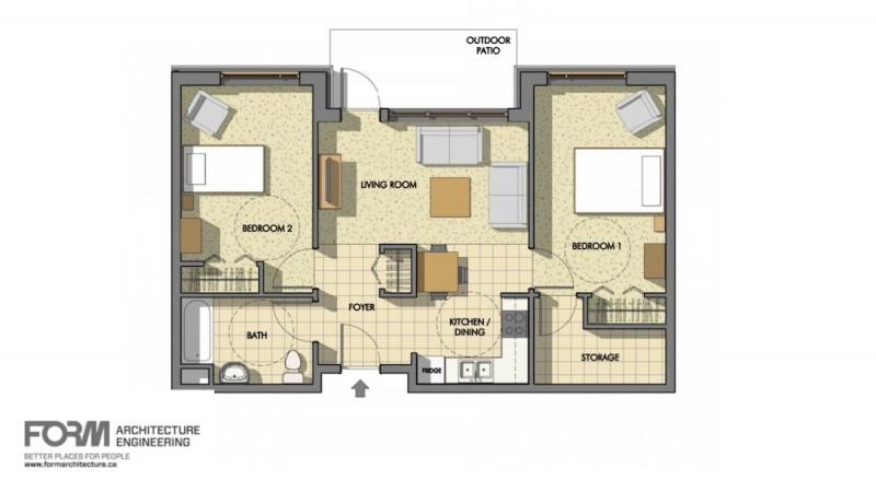 Model-of-Two-Bedroom-Suite