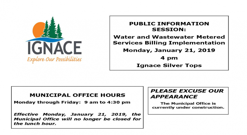 Public Information Session- Water and Wastewater Metered Services Billing Implementation (Update)